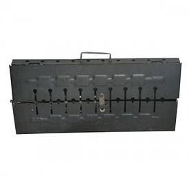 """Мангал чемодан """"Кемпинг"""" 10 шампуров"""