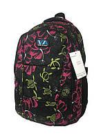 Рюкзак школьный VA R-71-133, черный с принтом