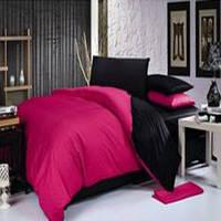 Двуспальный комплект. Черно-розовое постельное постельное белье Простыня на резинке