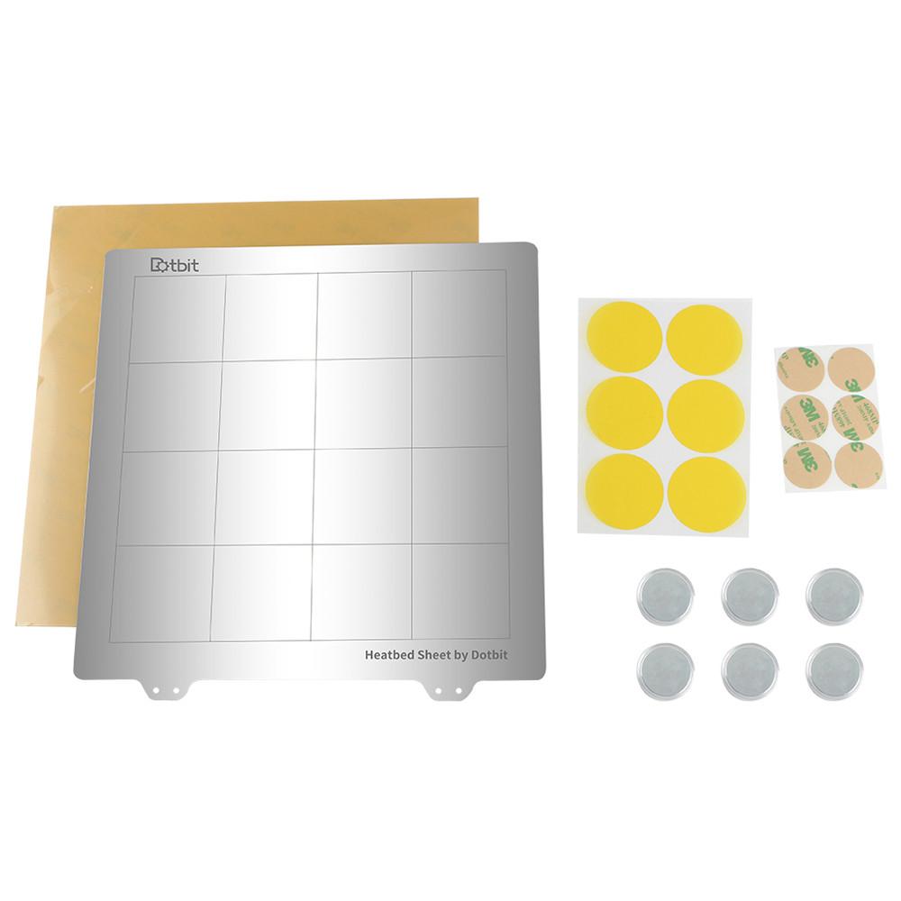 Платформа с подогревом 235 * 235 мм Сталь с горячей кроватью Пластина с круглой наклейкой Магнит + Магнитic + лист PEI для 3D-принтера-1TopShop