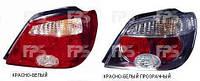 Фонарь задний левый Mitsubishi Outlander I (-05) красно-белый прозрачный темный (DEPO)