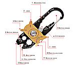 Брелок набор инструментов отвертка 20 в 1 открывалка, фото 2