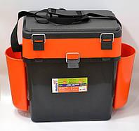 Ящик для зимней рыбалки FISHBOX Helios двухсекционный 19л ХА-1037, оранжевый