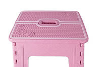 Табурет раскладной Stenson R87944 30х25х25 см, розовый