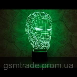 3D светильник-ночник Железный человек UTM