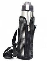 Термос-поилка MHZ Fashion 260 1л, серебро в чехле