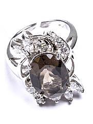 Кольцо серебряное с раухтопазом FJ-127 (р.17.5)