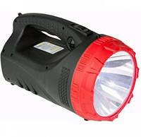 Фонарь-прожектор MHZ аккумуляторный YJ-2827, черный с красным
