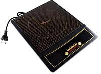 Электроплита индукционная однокомфорочная 2000W Domotec MS-5832, черный