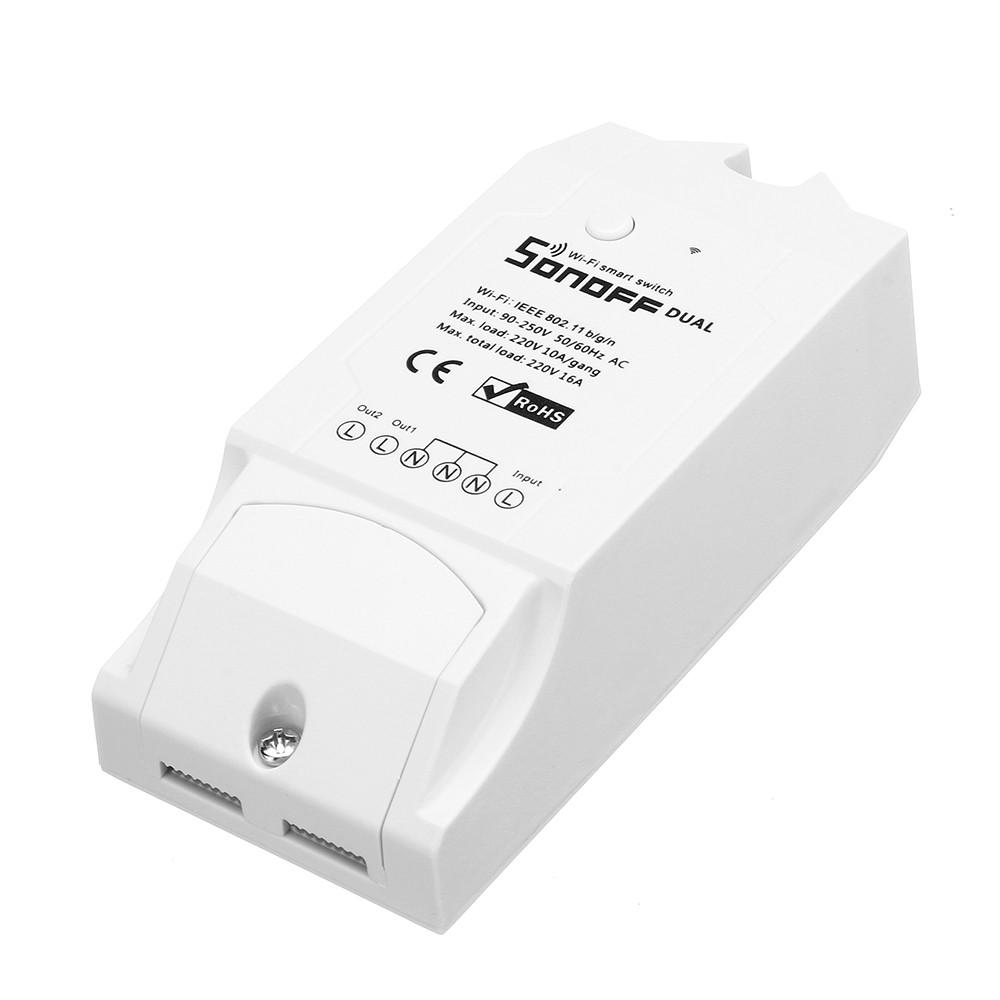 SONOFF® двухканальный DIY WIFI беспроводной пульт дистанционного управления APP переключатель разъем AC 90-250V для интеллектуального дома-1TopShop
