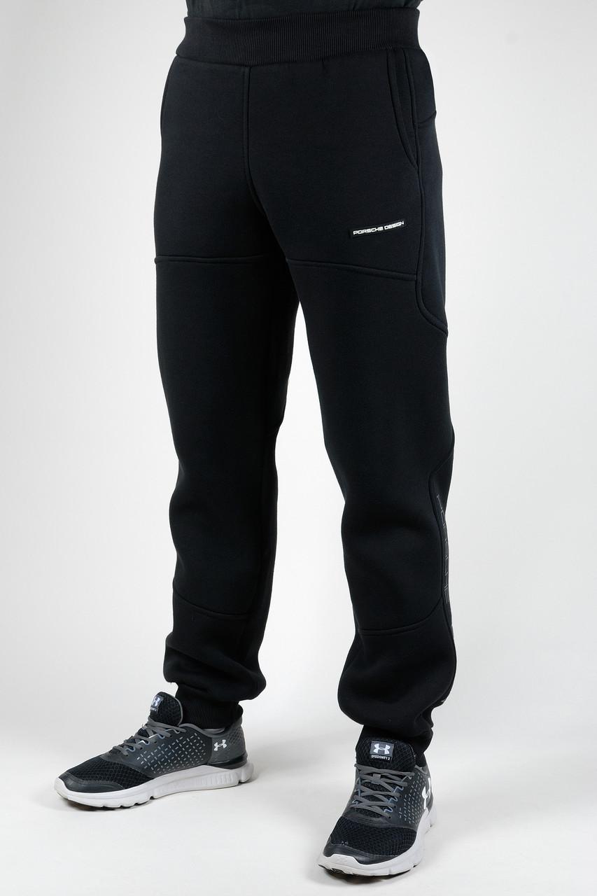 Зимние спортивные брюки Adidas Porsche manjet (черный)