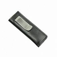 Чехол для ножа-мультитула на скобе кожаный малый