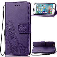 Чехол Clover для IPhone 6 Plus / 6s Plus Книжка кожа PU фиолетовый, фото 1