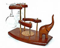 Оригинальный подарк - подставка для вина со статуэткой Слон