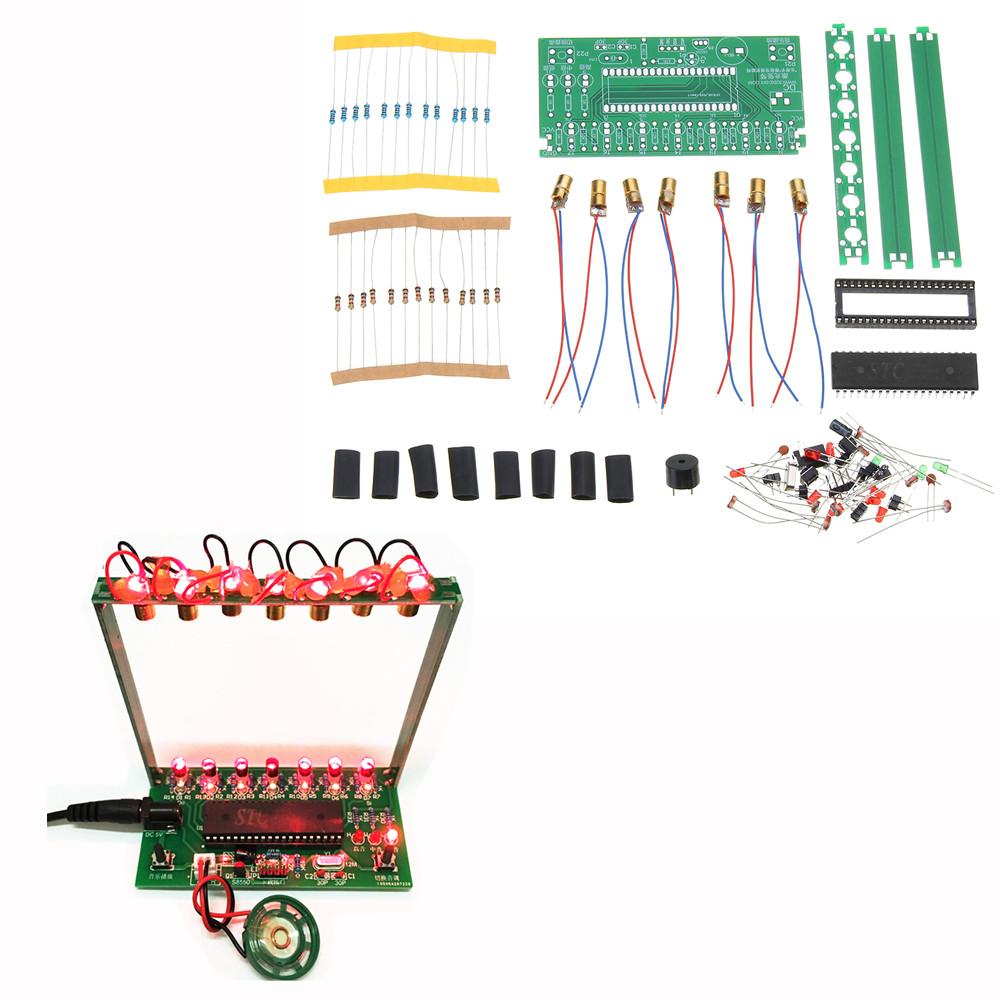 DIY Микрокомпьютер с одним чипом Лазер Harp Набор Electronic Piano Music Коробка - 1TopShop