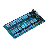 BESTEP 16-канальный 24-вольтовый релейный модуль LM2596 с защитой от оптопары Низкий уровень триггера для Auduino - 1TopShop, фото 2