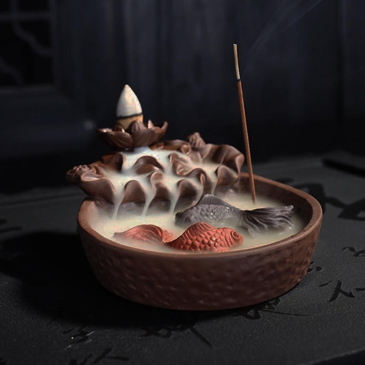 Рыбий хвост кастрюли с колбасой для обжаривания рыбы Палка Держатель для подарка Дзен-буддистский конус - 1TopShop