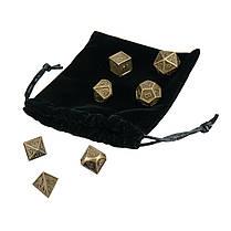 7шт. Тисненые тяжелые металлические многогранные кубики RPG Многогранные кубики с Сумка - 1TopShop, фото 2