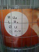 Сетка сварная оцинкованная 50х75х1.8мм 1,5х30м, фото 1
