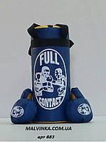 Боксерская груша +перчатки ,размер S ,цвет синий,красный арт 683/6149. синий