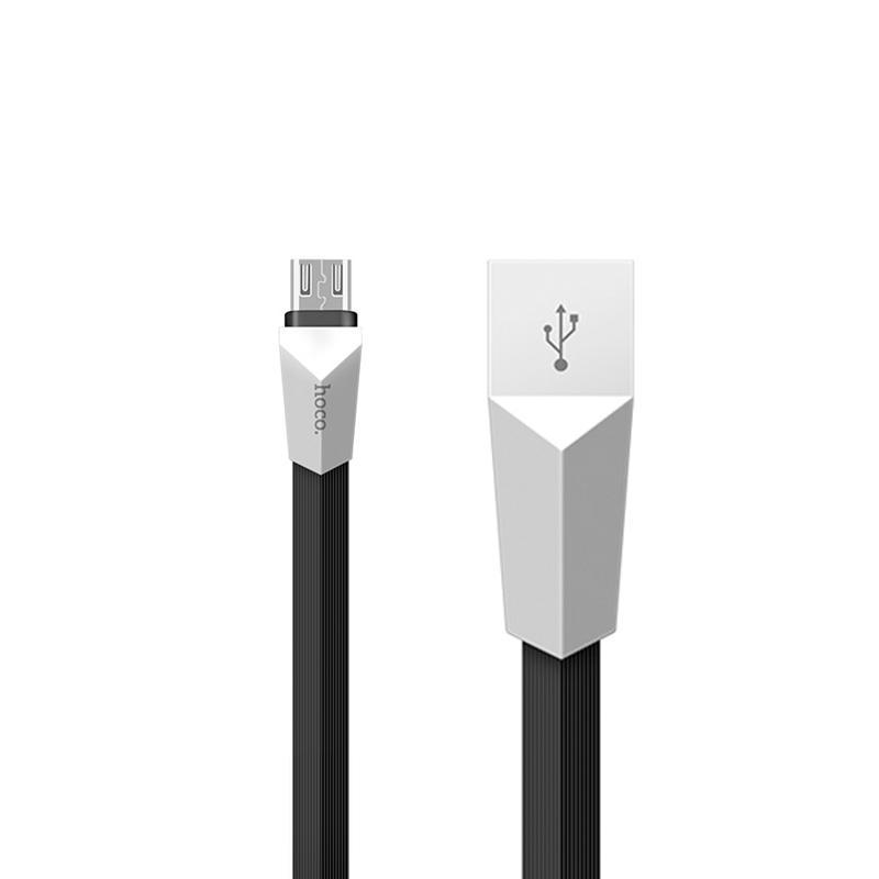 USB Cable Hoco X4 Zinc Alloy Rhombic MicroUSB Black 1.2 m