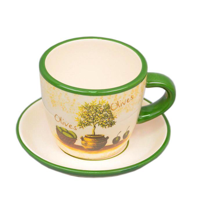 Чашка с блюдцем Olives - 209813