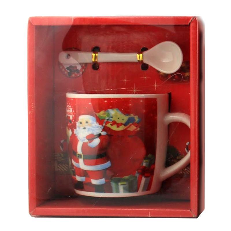 Чашка с ложечкой в подарочной упаковке Felis Navidad Spain Санта - 203727