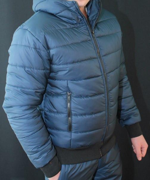 """Стильный, теплый зимний мужской костюм на синтепоне/холлофайбере """"Макс"""""""