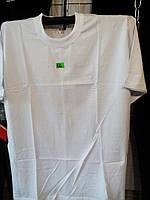 Мужская однотонная футболка белая