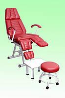 Педикюрно-косметологическое кресло КП-3, Кресло педикюрное КП-3, Кушетка косметологическая