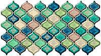 Панель ПВХ Регул Восточный орнамент синий 0,4х480х957мм