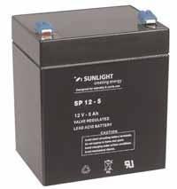 Аккумулятор SUNLIGHT SP12-5, 12В 5 А*ч