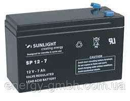 Аккумулятор SUNLIGHT SP12-7, 12В 7 А*ч