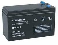 Аккумулятор SUNLIGHT SP12-7, 12В 7 А*ч, фото 1