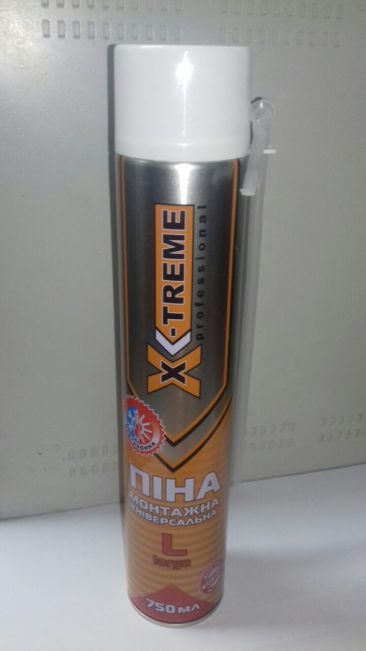 Пена монтажная многоцелевая X-Treme L 750 мл