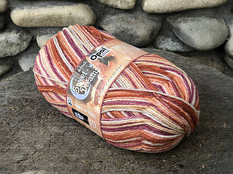 Носочная пряжа ОПАЛ ,серия SWEET DREAMS  6-PLY,(75% шерсть суперуош,25% полиамид),425 м.150 г.