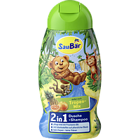 SauBär Tropenfrüchte 2 in 1 Dusche + Shampoo  детский гель для душа и шампунь Тропический микс 2 в 1 250 мл