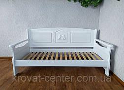 """Білий дитячий диван ліжко з натурального дерева """"Орфей Преміум"""" від виробника, фото 2"""