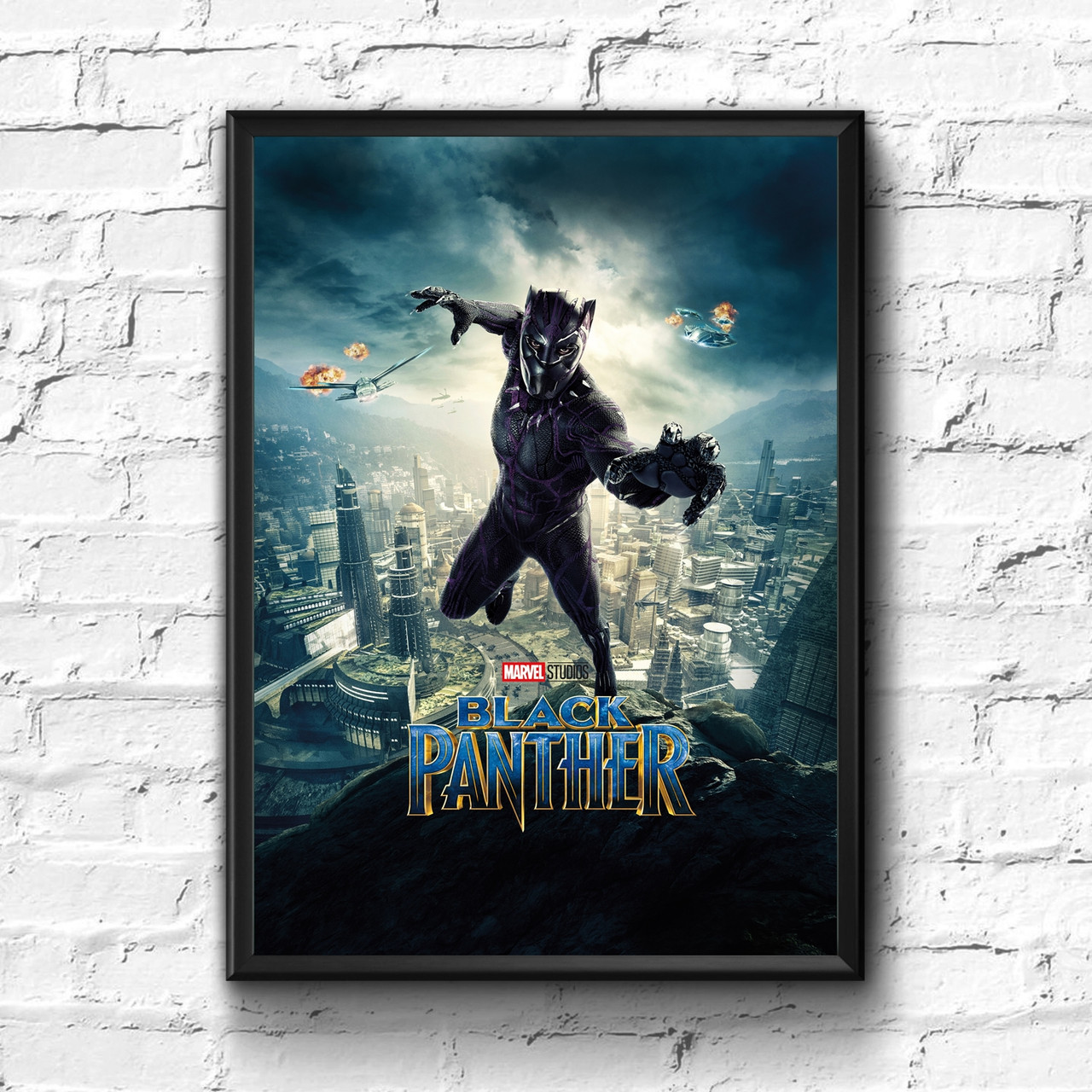 Постер с рамкой Black Panther, Marvel #1