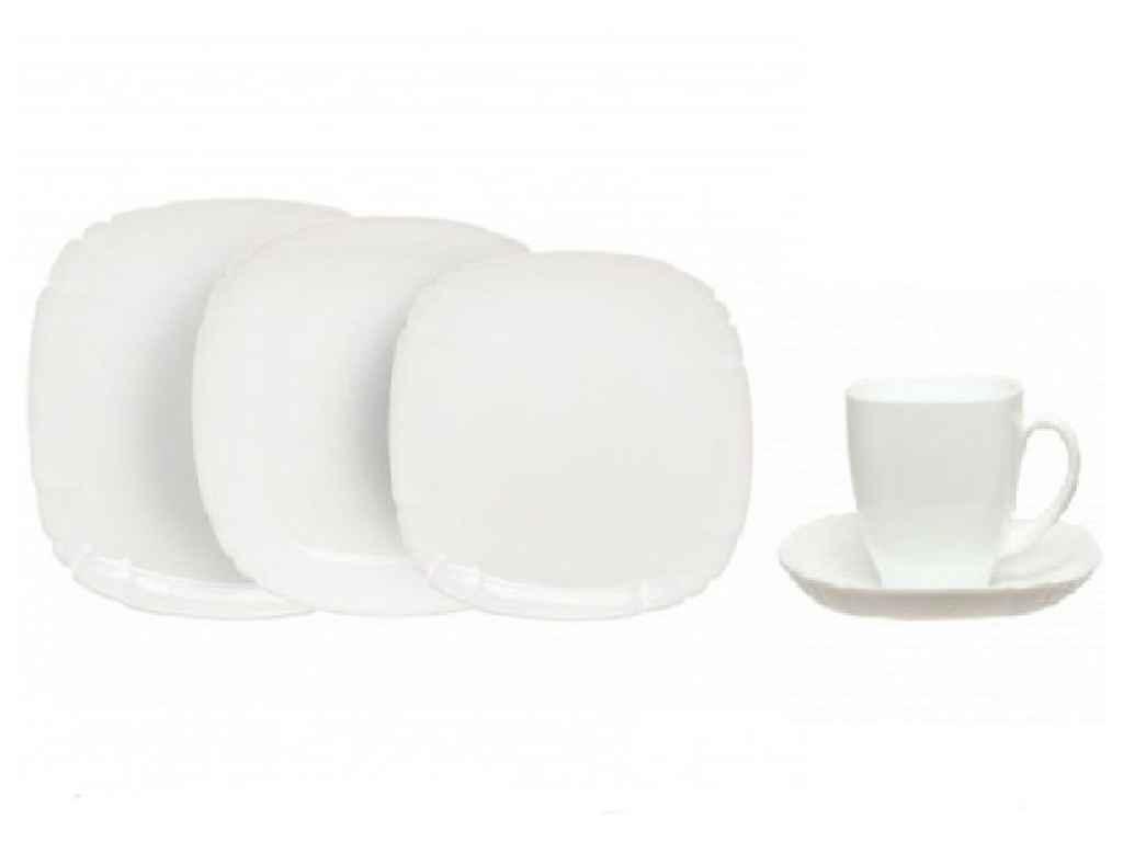 """Столовый сервиз стеклянный LOTUSIA white 30 предметов (H3902) 6190414 """"LUMINARC"""""""