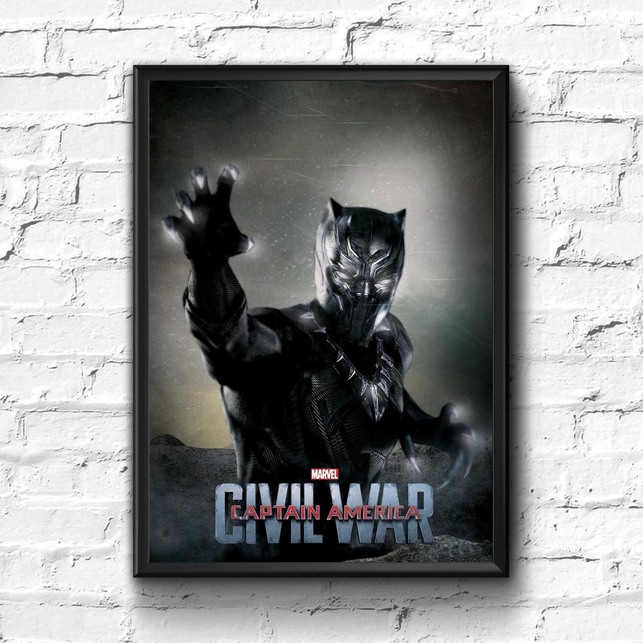 Постер с рамкой Black Panther, Marvel #8