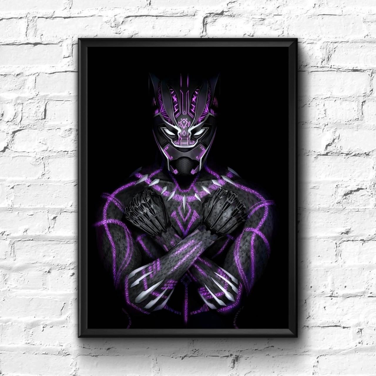 Постер с рамкой Black Panther, Marvel #10