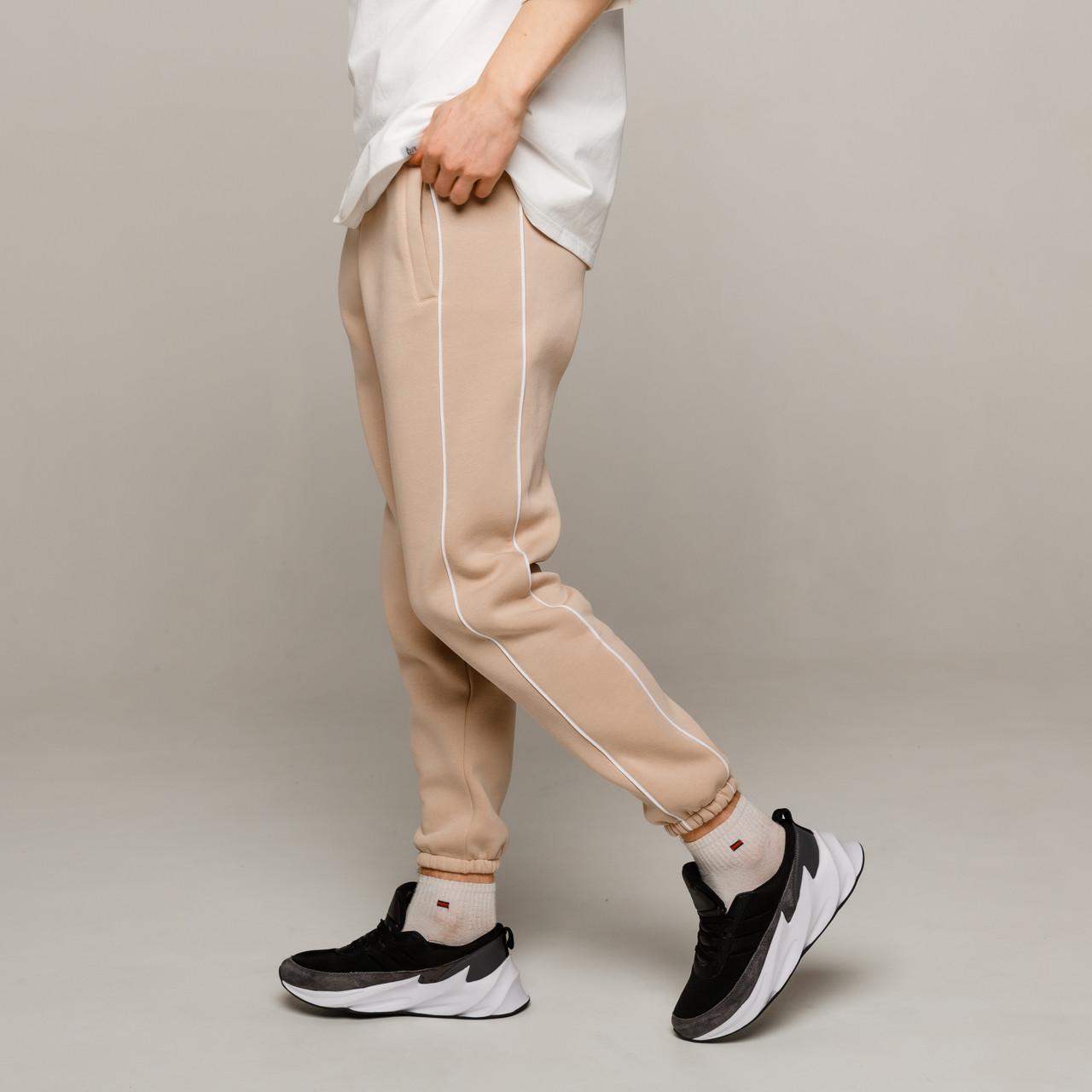 Зимние спортивные штаны мужские бежевые от бренда ТУР модель Сектор (Sector)