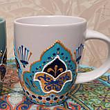 Горнятко біле, чорне, блакитне, коричневе, рожеве, зелене, синє, фото 2