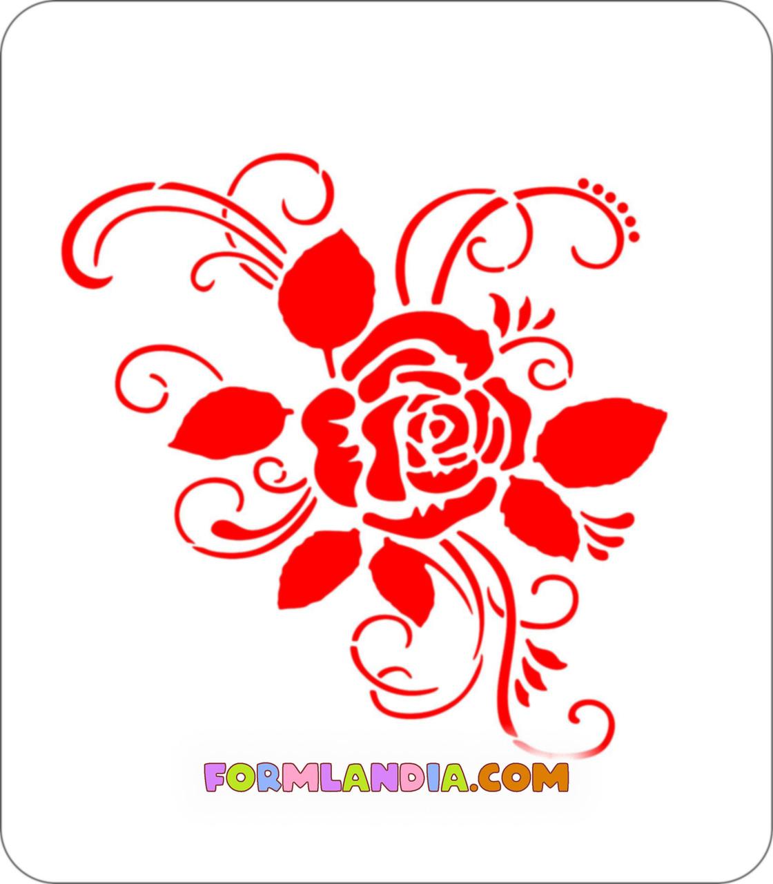 Трафарет для пряников Цветочный №1