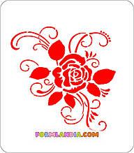 Трафарет для пряників Квітковий №1