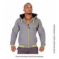 Gorilla Wear, Толстовка Premium Hooded Jacket Grey Melange, серая, фото 1