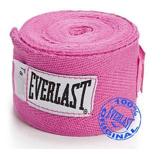 Боксерский бинт Everlast 2,75 м.( Розовый).