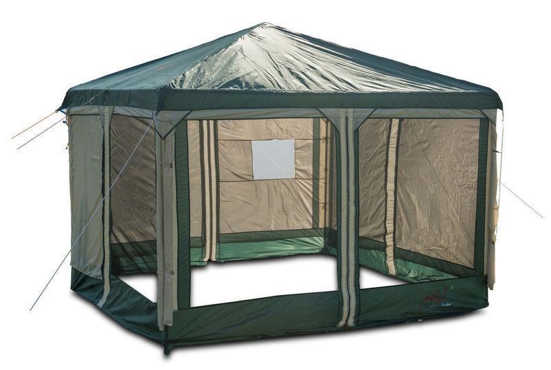 Тент кемпинговый Mimir Х-2902 шатер на 2 входа походный 300х300x250