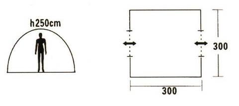 Тент кемпинговый Mimir Х-2902 шатер на 2 входа походный 300х300x250, фото 3